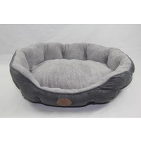 Washable Blue Fleece Dog Cat Bed-Large