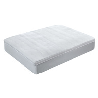 Giselle Bedding 1000GSM Mesh Pillowtop Mattress Topper Protector Cover Double