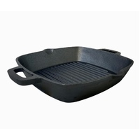 26 cm Cast Iron Fry Grill Pan Pre-Seasoned Oven Safe Barbecue Grill Frypan