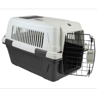 Large Portable Dog Cat House Pet Carrier Travel Bag Cage+Safety Lock & Food Box