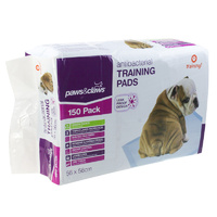 600Pk Paws n Claws 56x56cm Puppy Pet Dog Indoor Cat Toilet Absorbent Training Pads