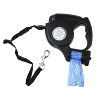 5 m Pet Small Dog Leash Retractable Walking Collar Automatic Traction Rope with Waste Bag Dispenser