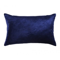 Coco Velvet Purple Oblong Cushion by Kas