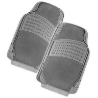 COLOSSUS 2-Piece Car Mat - GREY [Rubber/Carpet]
