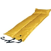 Trailblazer Self-Inflatable Foldable Air Mattress With Pillow - YELLOW