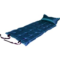 Trailblazer 21-Points Self-Inflatable Satin Air Mattress With Pillow - DARK BLUE