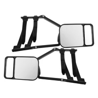 2 x TOWING MIRRORS PAIR UNIVERSAL MULTI FIT STRAP ON TOWING CARAVAN 4X4 TRAILER