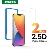 "UGREEN 20336 2.5D Full Cover HD Screen Tempered Protective Film for iPhone 12/5.4"" (Twin Pack)"