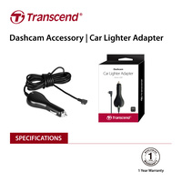 TRANSCEND TS-DPL2  Car Lighter Adapter for DrivePro, Micro-B (For DP230 / DP130 / DP110)