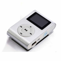 Mini Clip 8G MP3 Music Player With USB Cable & Earphone Silver