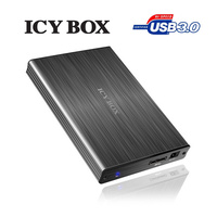 "ICY BOX Particularly elegant aluminum enclosure with USB 3.0 for 2.5"" SATA HDDs (IB-231StU3-G)"