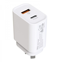 TEQ PD18W and QC 3.0 Fast Charger Dual adapter