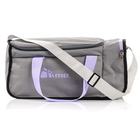 20L Foldable Gym Bag (Grey / Violet)