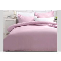 Single Size Pink Quilt Cover Set (2PCS)