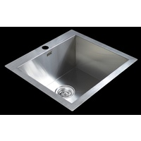530x505mm Handmade Stainless Steel Topmount Kitchen Laundry Sink with Waste