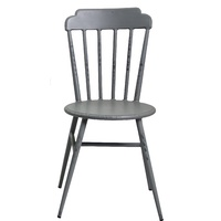 Aluminium Windsor Dinning Chair Retro Grey Set of 2
