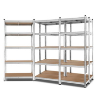 Giantz 5x0.9M Warehouse Shelving Racking Storage Garage Steel Metal Shelves Rack