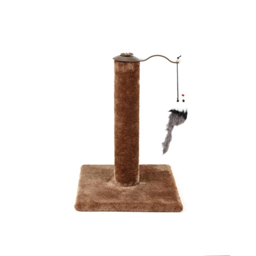Cat Kitten Single Scratching Post with Toy-Brown