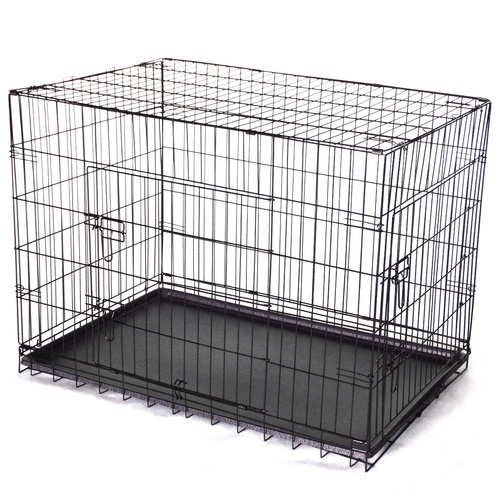 30' Collapsible Metal Dog Crate Cage Cat Carrier