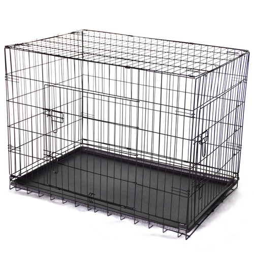 36' Collapsible Metal Dog Cat Puppy Crate Cage Cat Carrier