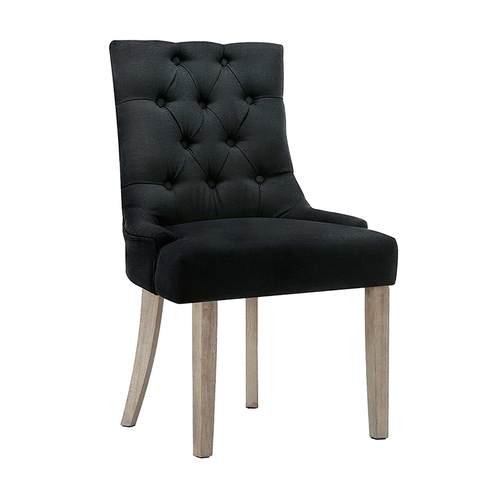 Artiss French Provincial CAYES Dining Chair Black
