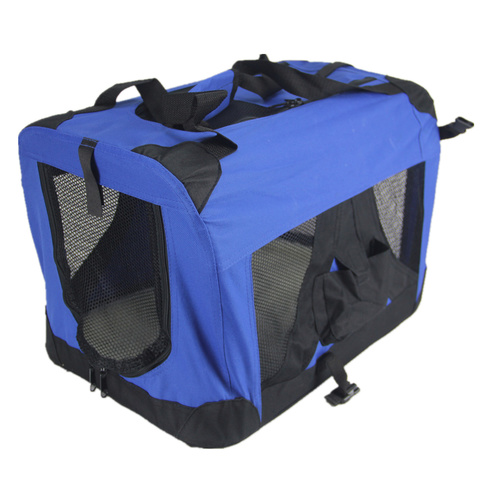 XXL Portable Foldable Pet Dog Cat Puppy Soft Crate-Blue