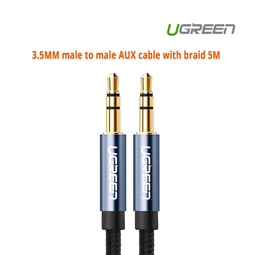 UGREEN 3.5MM male to male AUX cable with braid 5M (10689)